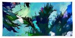 Tree Spirit Abstract Digital Painting Bath Towel