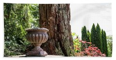 Tree Stump And Concrete Planter Bath Towel