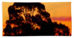 Tree Sunset Bath Towel