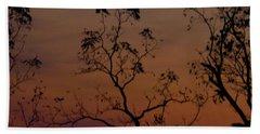 Tree Top After Sunset Bath Towel by Donald C Morgan
