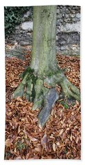 Tree Trunk With Leaves Hand Towel