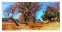 Trees Along Elizabeth Lake Hand Towel