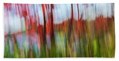 Bath Towel featuring the photograph Trees And Lake by Elena Elisseeva