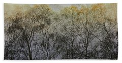 Trees Illuminated By Faint Sunshine, Double Exposed Image Hand Towel