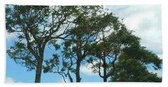 Trees In Kauai Bath Towel