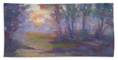 Trees In The Mist Hand Towel