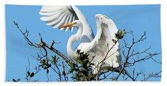 Treetop Egret Hand Towel