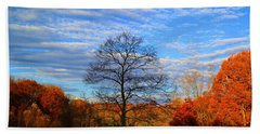 Hand Towel featuring the photograph Treetops Sunrise by Kathryn Meyer