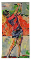 Treibschlag Vom 9 Tee  Drive From The 9th Tee Bath Towel by Koro Arandia