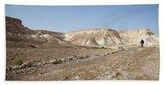 Trekker Alone On The Wild Way Hand Towel by Yoel Koskas