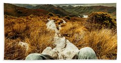 Trekking Tasmanian Mountains Bath Towel