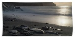 Hand Towel featuring the photograph Photographs Of Cornwall Trevellas Cove Cornwall by Brian Roscorla