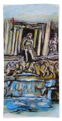 Trevi Fountain, Rome Hand Towel