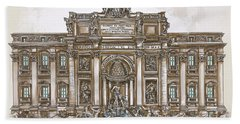 Trevi Fountain,rome  Hand Towel