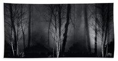 Tri-birch In Monochrome Hand Towel