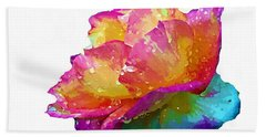 Hand Towel featuring the photograph Tri Color Rose by Joseph Frank Baraba
