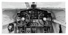 Tri-motor Cockpit - 2017 Christopher Buff, Www.aviationbuff.com Hand Towel