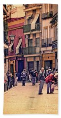 Bath Towel featuring the photograph Triana On A Sunday Afternoon 2 by Mary Machare