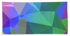 Triangle Abstract Color Bath Towel