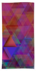Triangle In Violet Mist Bath Towel