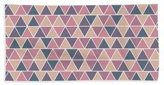 Triangular Geometric Pattern - Warm Colors 01 Bath Towel