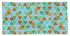 Triangular Geometric Pattern - Warm Colors 02 Bath Towel