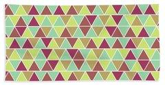 Triangular Geometric Pattern - Warm Colors 03 Bath Towel
