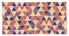 Triangular Geometric Pattern - Warm Colors 04 Bath Towel