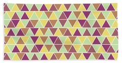 Triangular Geometric Pattern - Warm Colors 05 Bath Towel