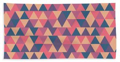 Triangular Geometric Pattern - Warm Colors 11 Bath Towel