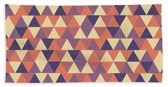Triangular Geometric Pattern - Warm Colors 12 Bath Towel