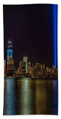 Tribute In Lights Memorial Hand Towel by Susan Candelario