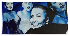 Tribute To Lena Horne Hand Towel by Chelle Brantley