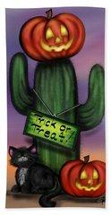 Trick Or Treat Cactus Bath Towel