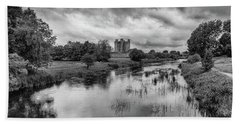Trim Castle And The River Boyne Hand Towel by Martina Fagan