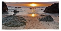 Trinidad State Beach Sunset Hand Towel