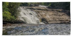 Bath Towel featuring the photograph Triple Falls Second Tier by Steven Richardson