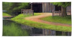 Bath Towel featuring the painting Triple L Ranch  by Janet King