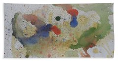 Bath Towel featuring the painting Triple Rooster Race by Vicki  Housel