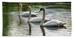 Triplet Swans Bath Towel