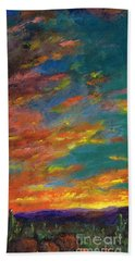 Triptych 1 Desert Sunset Bath Towel