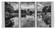 Triptych Trim Castle 2 Bath Towel by Martina Fagan
