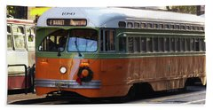 Bath Towel featuring the photograph Trolley Number 1080 by Steven Spak