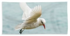 Hand Towel featuring the photograph Tropic Bird 4 by Werner Padarin
