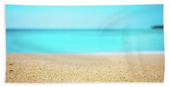 Tropical Art - Turquoise Sand Beach Lagoon Photography Hand Towel