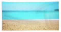 Tropical Art - Turquoise Sand Beach Lagoon Photography Hand Towel by Modern Art Prints
