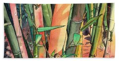 Tropical Bamboo Hand Towel by Marionette Taboniar