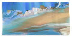 Tropical Beach Abstract Bath Towel by Lenore Senior