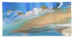 Tropical Beach Abstract Bath Towel