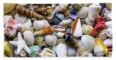 Hand Towel featuring the photograph Tropical Beach Seashell Treasures 1500a by Ricardos Creations